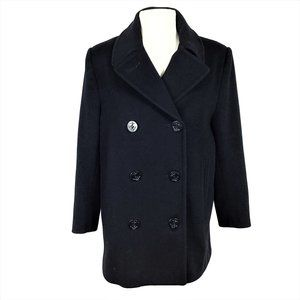 Vintage Talbots 8 P Wool Double Breasted Pea Coat